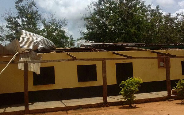 Wind Damage to the School Roof Was Severe